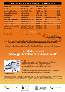 garforth arts festival leeds