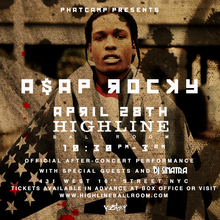 Asap rocky tour dates in Sydney