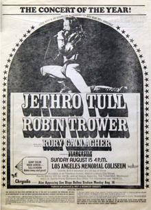 Jethro Tull Tour History