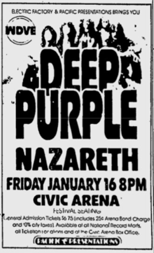 Deep Purple Tour Poster