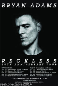 Bryan adams tour dates in Brisbane