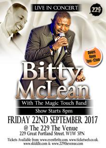 Bitty Mclean Tour