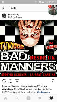 Bad manners tour dates 2014
