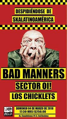Bad manners concert dates