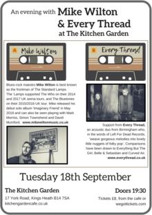 The Kitchen Garden Cafe Birmingham Tickets For Concerts Music