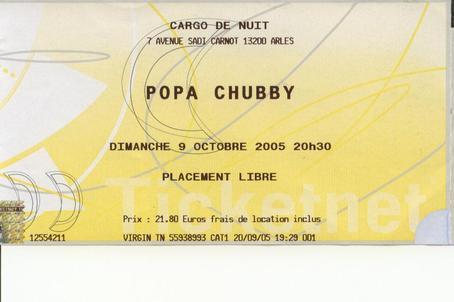 Popa chubby tickets