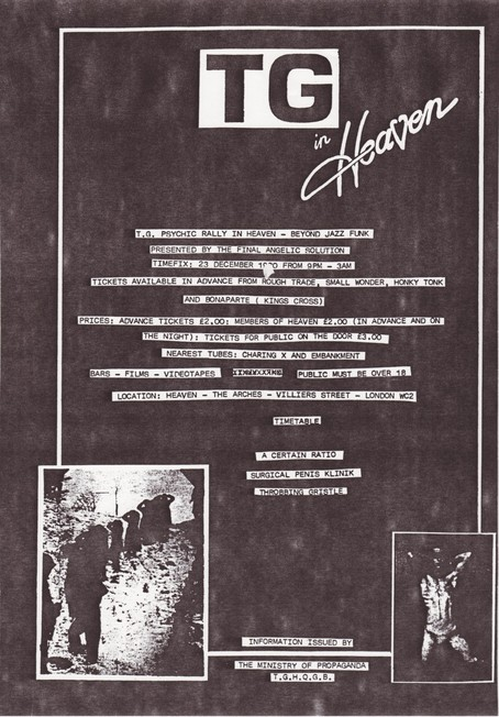 23 Dec 1980, Heaven, London - ACR Gigography