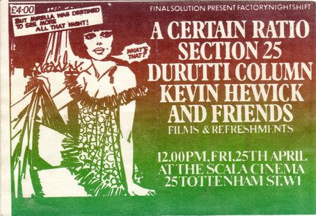 25 Apr 1980, Scala Cinema, London - ACR Gigography