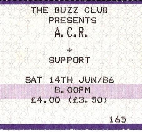 14 Jun 1986, Buzz Club, West End Centre, Aldershot - ACR Gigography