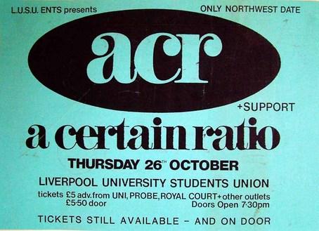 26 Oct 1989, University, Liverpool - ACR Gigography