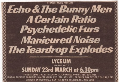 23 Mar 1980, Lyceum, London - ACR Gigography
