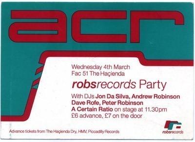 04 Mar 1992, The Haçienda, Manchester - ACR Gigography