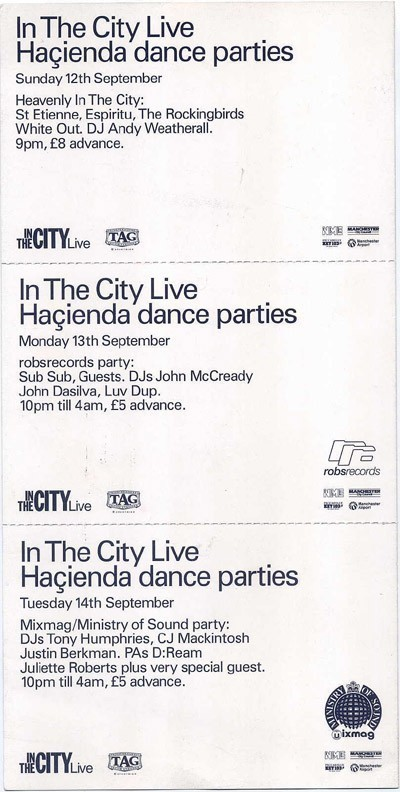 13 Sep 1993, The Haçienda, Manchester - ACR Gigography