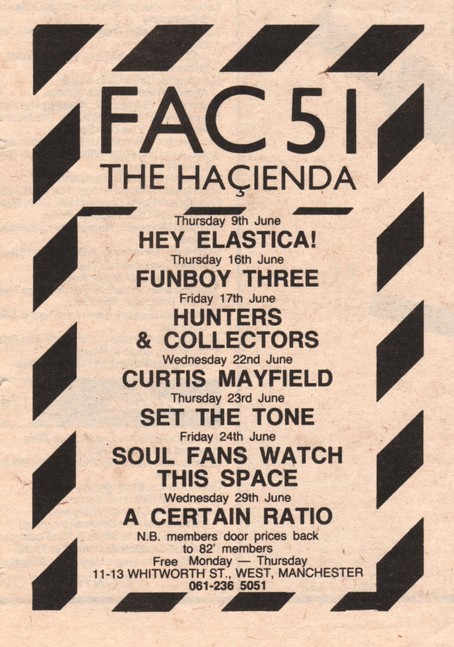 29 Jun 1983, The Haçienda, Manchester - ACR Gigography