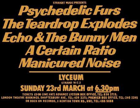23 Mar 1980, Lyceum, London - ACR Gigography