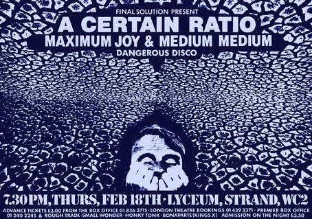 18 Feb 1982, Lyceum, London - ACR Gigography