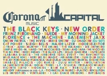 Festival Corona Capital 2012 Mexico City Line Up Photos