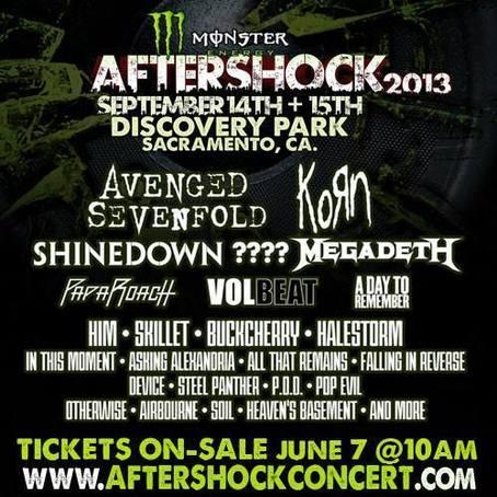 Aftershock Tour Dates