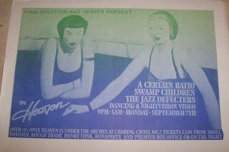 07 Sep 1981, Heaven Ultradisco, London - ACR Gigography