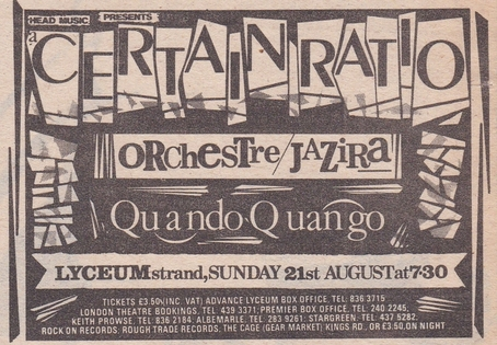 21 Aug 1983, Lyceum Theatre, London - ACR Gigography
