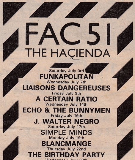 09 Jul 1982, The Haçienda, Manchester - ACR Gigography