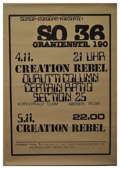 04 Nov 1980, SO36, Berlin, Germany - ACR Gigography