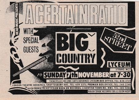07 Nov 1982, Lyceum, London - ACR Gigography