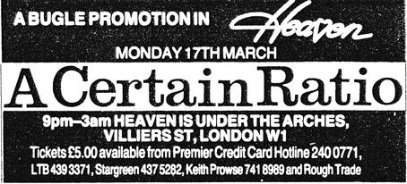 17 Mar 1986, Heaven Ultradisco, London  - ACR Gigography