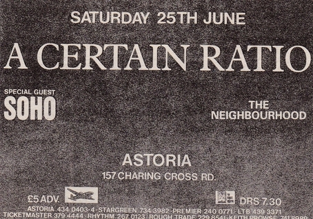 25 Jun 1988, Astoria, London - ACR Gigography
