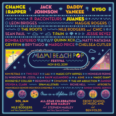 Image result for miami beach pop fest lineup pics